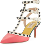 Valentino Rockstud Colorblock City Sandal