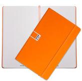 Pantone NEW Flame Orange Large Plain Elastic Band Notebook