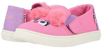 TOMS Kids Sesame Street Luca (Toddler/Little Kid) (Pink Abby Face Canvas) Girl's Shoes