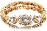 myCullinan Simulated Diamond CZ Flower Yellow Tone Bracelet BC240