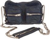 Brenda Washed Shoulder Bag - Navy