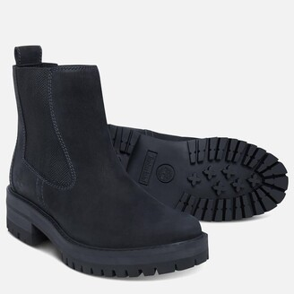 Timberland Women's Courmayeur Valley Leather Chelsea Boots - Black