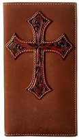 M&F Western - Tooled Cross Overlay Rodeo Wallet Wallet Handbags