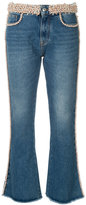 MSGM faux pearl embellished jeans