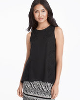 White House Black Market Embroidered Shell Top