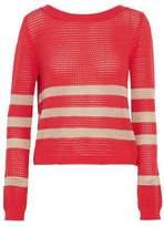 Splendid Striped Open-Knit Cotton-Blend Sweater