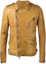 Giorgio Brato classic biker jacket - men - Leather - 52