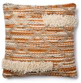 Magnolia Home By Joanna Gaines Magnolia Home Hazel 18-Inch SquareThrow Pillow in Orange/Ivory