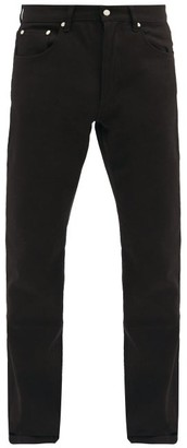 Ami Straight-leg Cotton-denim Jeans - Black
