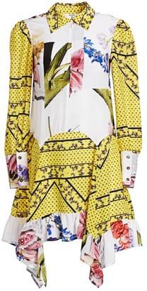 Ganni Silk Mix Print Dress