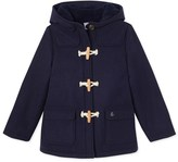 Petit Bateau Girls duffel coat in wool broadcloth