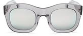 Illesteva Mirrored Hamilton Oversized Thick Rim Square Sunglasses, 49mm