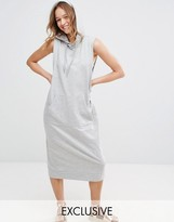 Monki Sleeveless Hooded Sweat Dress