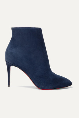 Christian Louboutin Eloise 85 Suede Ankle Boots - Navy