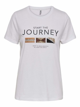 Only Women's Onlkita Life Fit S/s World Top Box JRS T-Shirt
