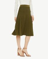 Ann Taylor Shimmer Pleated Sweater Skirt