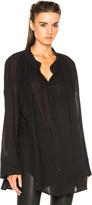 Ann Demeulemeester Button Down Top in Black.