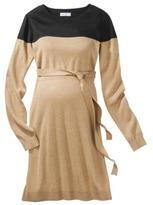 Liz Lange for Target® Maternity Long-Sleeve ColorBlock Sweater Dress - Black/Camel