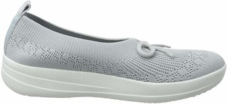 FitFlop Women's Uberknit Slip ON Ballerina with Bow Low-Top Slippers