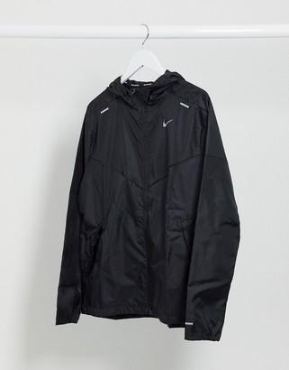 Nike Running Windrunner hooded jacket in black