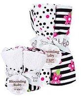 Trend Lab 20944 Bouquet Set - Zahara - Bib & Burp Cloth