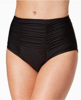 Becca Color Code High-Waist Shirred Bikini Bottoms