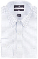 Hart Schaffner Marx Non-Iron Fitted Classic-Fit Hidden Button-Down Collar Grid Pattern Dress Shirt