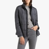 Anne Weyburn Short Checked Padded Jacket with Pockets