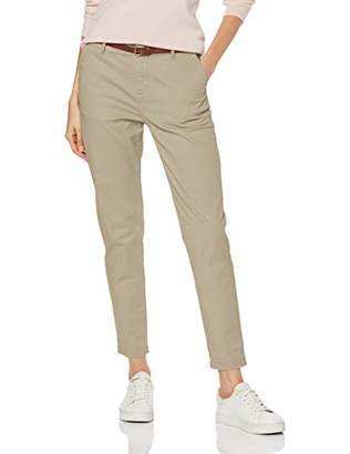 Scotch & Soda Maison Women's Regular Fit' Chino, Sold with A Belt Trouser, Cadillac Pink 1200, W30/L34 (Size: 30/34)