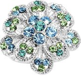 Body Candy Blue Green Passionate Petals Flower Adjustable Ring