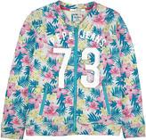 Pepe Jeans Full zip flower-printed fleece sweatshirt