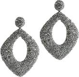 Deepa Gurnani Erté Gunmetal Earrings