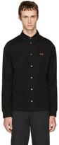 Paul Smith Black Flower Badge Polo Shirt