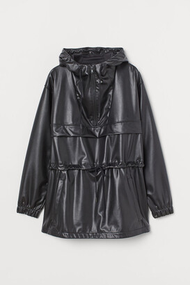 H&M Faux Leather Anorak - Black