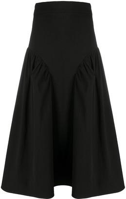 MSGM Ruffle-Trim Midi Skirt