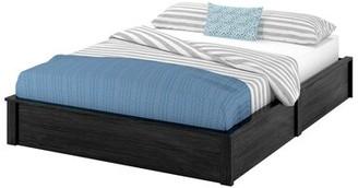 Viv + Rae Mikel Platform Bed Viv + Rae Size: Full/Double, Bed Frame Color: Black Oak
