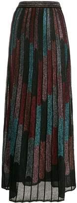 M Missoni metallic pleated skirt