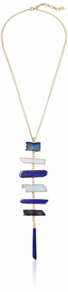 Lucky Brand Jewelry Lapis Stacked Pendant Necklace