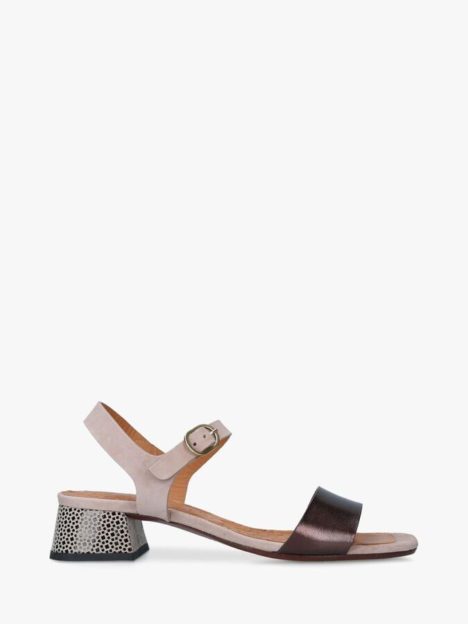 Chie Mihara Ubane Leather Block Heel Sandals, Multi