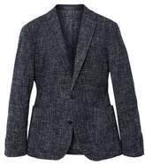 MANGO Slim fit flecked cotton blazer