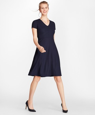 Brooks Brothers Petite Pinstripe BrooksCool Merino Dress