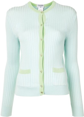 Chanel Pre Owned 1997 Contrast Trim Cardigan
