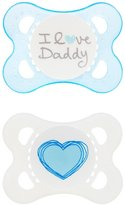 Mam Love and Affection I Love Daddy Silicone Pacifier - Blue - 0 - 6 Months - 2 ct