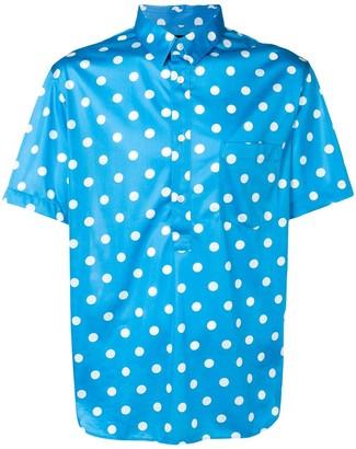 Comme des Garcons silky polka dot shirt
