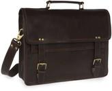 Vida Vida Wandering Soul Dark Brown Leather Messenger Bag