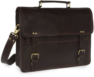 Vida Vida Wandering Soul Dark Brown Leather Messenger Bag