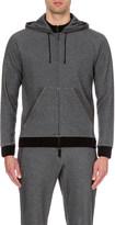 Emporio Armani Contrast-detail cotton-blend hoody