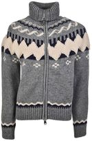Moncler Zipped Chunky Knit Cardigan