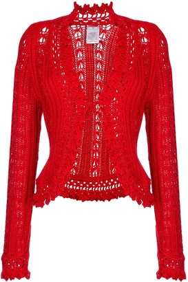 Chanel Pre Owned Embroidered Fitted Cardigan