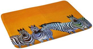 "Deny Designs Clara Nilles Candy Stripe Zebras Memory Foam Bath Mat, 24""x36"""